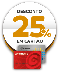 Desconto 25% Cartão Continente. SOL Restaurantes