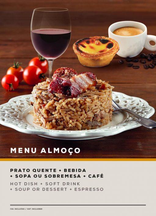 MENU ALMOÇO. SOL Restaurantes