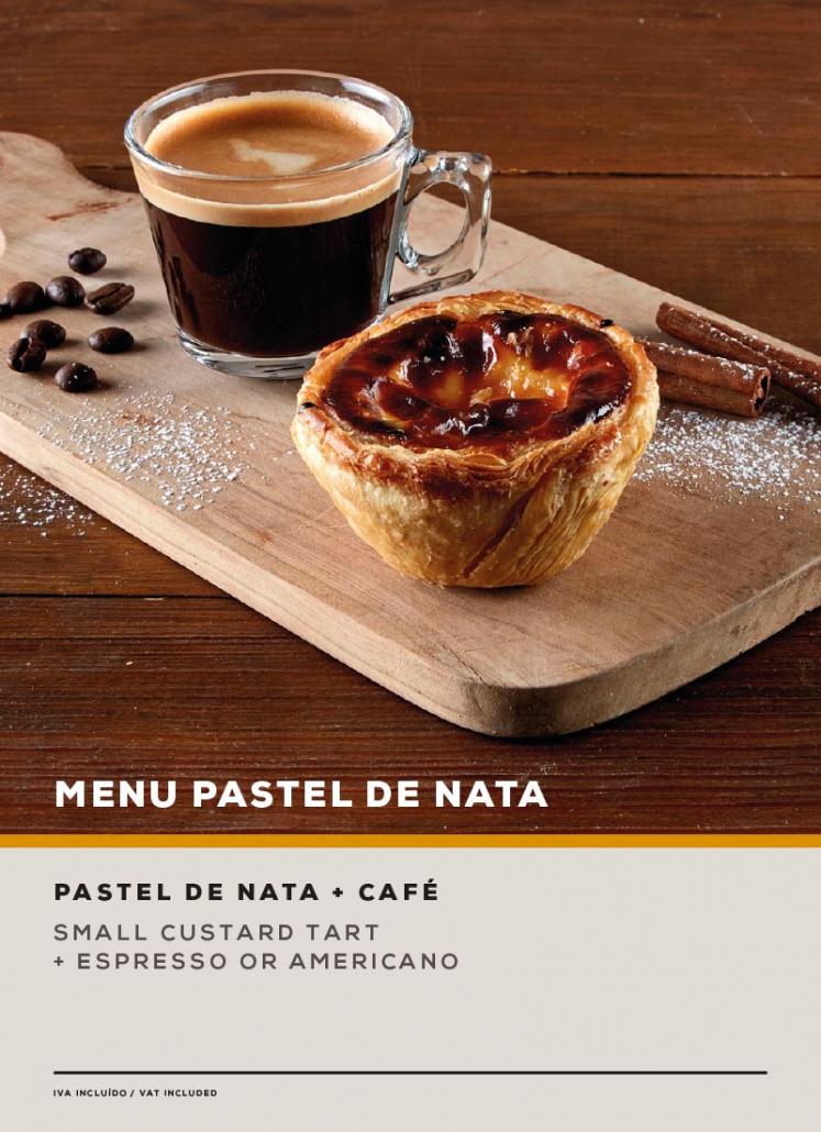 MENU PASTEL DE NATA. SOL Restaurantes - Grupo Ibersol