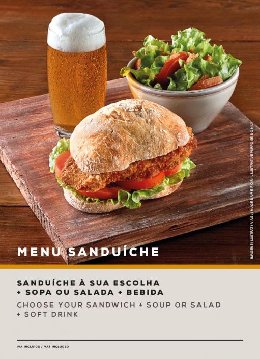 MENU SANDUÍCHE. SOL Restaurantes